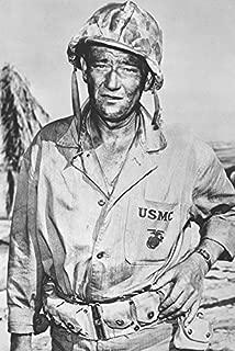 John Wayne B&W Sands of Iwo Jima 18x24 Poster