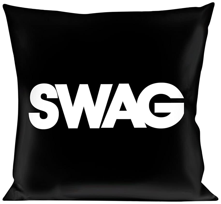 Pillow Decorative Throw Swag Black White