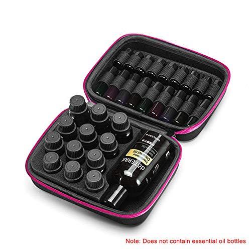 Baifeng Sac de rangement pour bouteilles d'huile essentielle, 44 grilles, étui de rangement multifonction portable One Size rose
