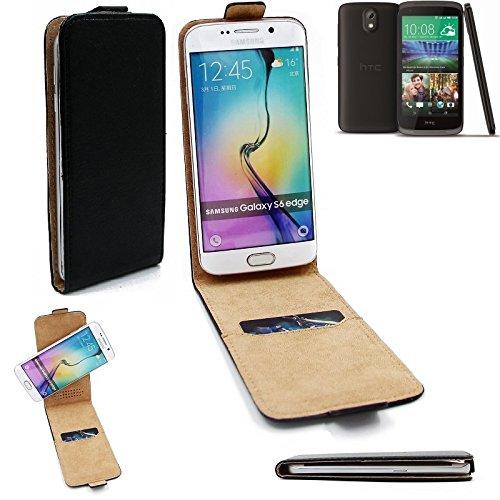 K-S-Trade Für HTC Desire 526G Dual SIM Flipstyle Schutz Hülle 360° Smartphone Tasche, Schwarz, Case Flip Cover Für HTC Desire 526G Dual SIM
