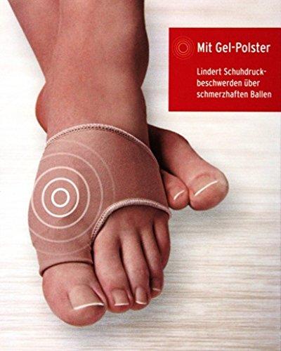 Sensiplast HALLUX VALGUS Bandage Gr. L/XL Zehenschutz GELPOLSTER Gel Ballen Ballenschutz qp983