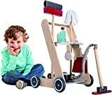Product Image of the MMP Living Pretend Play Cleaning Cart - 7 Pieces, Wood
