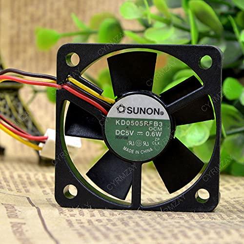 CYRMZAY Ventilador Compatible para SUNON KD0505RFB3 5V 0.6W 3-Wire 5CM 5010 Cooling Ventilador