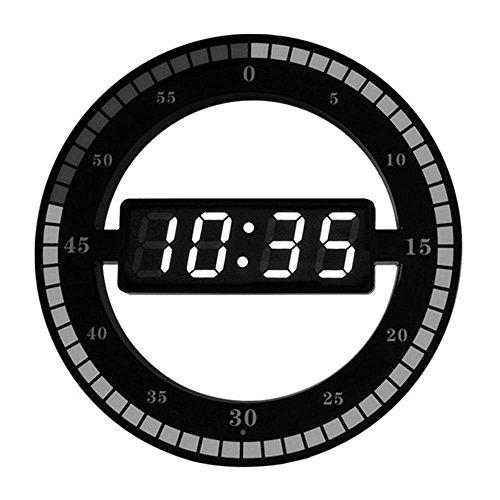 AOLVO Horloge Lumineuse Personnalisable -Horloge Créative LED Horloge Cycle de Temps Smart Simulation Horloge Numérique électronique