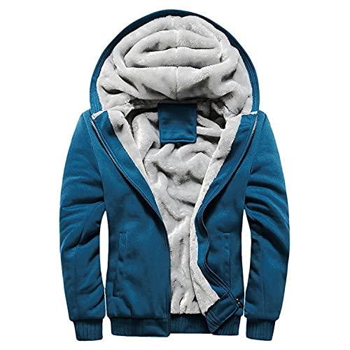 BaZhaHei Herren Winter Warm Fleece Übergangsjacke Reißverschluss Oversize Gefütterte Herbst Winter Warm Pullover Jacke Outwear Mantel Outdoorjacke Freizeitjacke Windjacke M-4XL