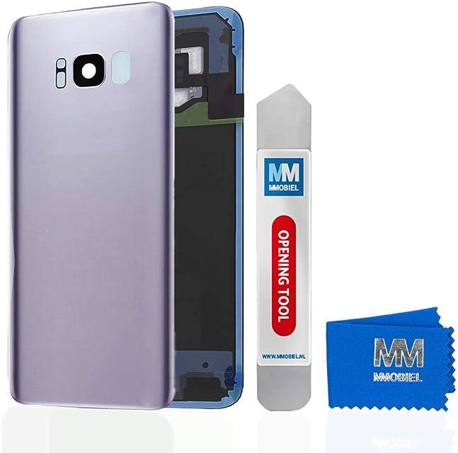 MMOBIEL Tapa Bateria/Carcasa Trasera con Lente de Cámara Compatible con Samsung S8 Plus G955 6.2 Pulg. (Gris Orquídea)