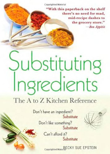Compare Textbook Prices for Substituting Ingredients, 4E: The A to Z Kitchen Reference 4 Edition ISBN 0760789228773 by Epstein, Becky Sue
