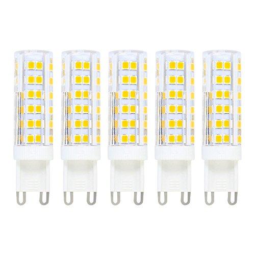 7W G9 LED Lampen, Ersatz für 50W Halogenlampen, 500lm, Warmweiß, 3000K, LED Dekorative Leuchten, LED Birnen, LED Leuchtmittel, 5er Pack