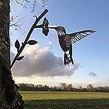 Edelrost Vögel Auf Zweig Metall Vogel-Silhouette, Garten Rostige Gartendeko Rost Dekoration, Metall Tier Silhouette Kunst Für Hofdekoration Outdoor