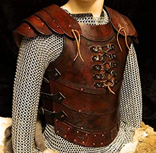 Souvenir India Genuine Leather Vest 4mm Leather Armor Larp Armor Sca Armor Medieval Armour