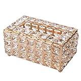JAWSEU Kosmetiktücherbox, feuchttücherbox Transparente Glas-Taschentuchbox für kreative...