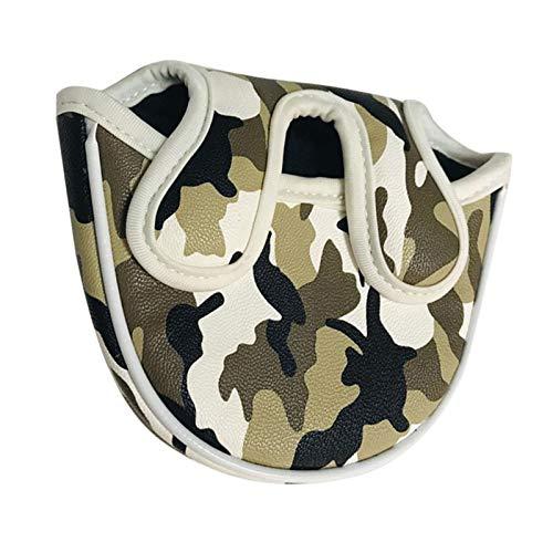 QuRRong Fundas Palos de Golf Golf Putter Head Cubiertas Mallet Putter Cover Protector Bag Guard Camo para Viajes de Golf (Color : Camouflage, Size : 14x11.5x4cm)