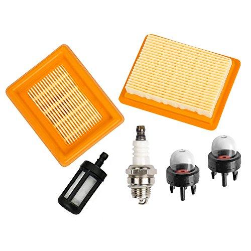ouyfilters Filtro de aire limpiador con bujías filtro de para Stihl FS120 FS200 FS250 FS300 FS350 FS400 FS450 String Trimmer # 4134 141 0300