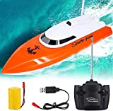 Remote Control Boats, RC Boat for Pools and Lakes, 2.4 GHz Speed Boat Toys Outdoor Adventure Electric Racing Boat