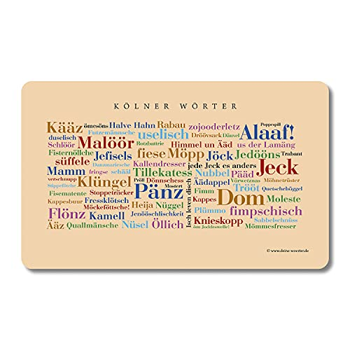 Frühstücksbrettchen Kölner Wörter