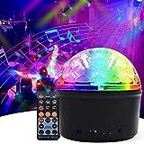 Luces Discoteca,Eleganted Bola Disco Recargable 9 Colores Lámpara Disco Bluetooth,9W LED Giratoria Luz de Fiesta con Control Remoto para Cumpleaños,Escenario,Navidad,Boda Iluminacion