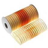 Kandy Nastro portaconfetti a Rete con Doppio Tirante per confezionare Sacchetti o Caramelle, Made in Italy, per Ogni Evento (Sfumato Arancio, 15)
