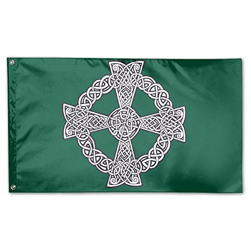 MoningV Celtic Cross Knot Irish Decorative Flag House Flag Yard Banner 3' X 5'