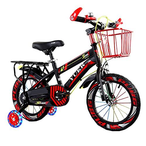 LFFME Bicicleta De 12-20 Pulgadas Bicicleta para Niños con Ruedas De Entrenamiento Ciclismo Acero Al Carbono Niños Niñas,A,18