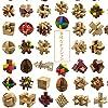「♣zqion」木製の知的玩具 孔明錠 魯班錠 成人児童 アイデアプレゼント 10個入