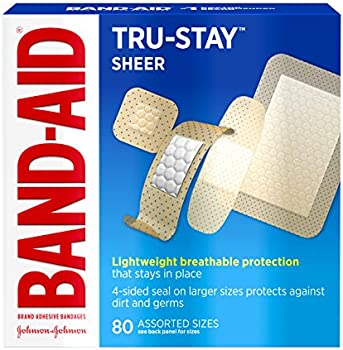 80-Count Band-Aid Brand Tru-Stay Sheer Strips Adhesive Bandages