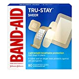 Band-Aid Brand Tru-Stay Sheer Strips Adhesive Bandages for First Aid and Wound Care, All...