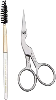 Tweezerman Stainless Brow Shaping Scissors and Brush