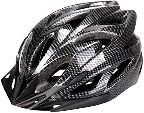 Bicicleta Casco, Six Foxes Unisex Adulto ligero casco de protección Casco para bicicleta con 18orificios de ventilación, visera desmontable y ajustable Cilindro de sistema para hombre mujer, azul