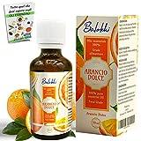Aceite Esencial de Naranja Dulce Puro 100% + Ebook Incluido • Origen Italia • Grado Alimentario • Aromaterapia y Difusor • Calmante y Purificante • Alisador para Rostro y Cuerpo • Vidrio 50ml