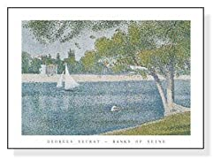 ジョルジュ・スーラ,グランド・ジャット島のセーヌ河畔,1887年