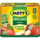 Mott's 100% Apple Juice, 6.75 Fluid Ounce Pouch, 8 Count (Pack of 4)