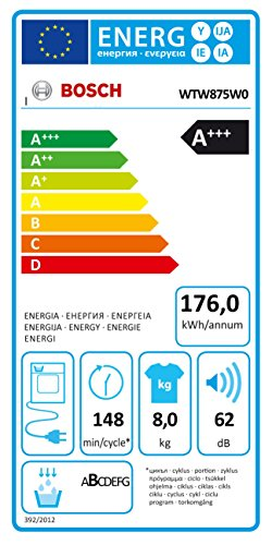 Bosch Serie 8 WTW875W0 Libera installazione Carica...