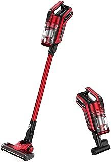 Proscenic I9 Cordless Vacuum Cleaner, 22000Pa Powerful Suction with Detachable Battery, LED Headlight, Charging Base, Long Lasting, Mini Motorized Tool, Red
