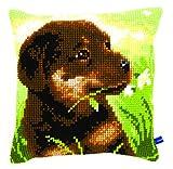 Vervaco Rottweiler de Cachorro de cojín de Punto de Cruz, Multi-Color