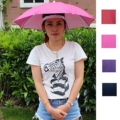 ZGMMM Outdoor Faltbare Sonnenschirm Hut Golf Angeln Camping Headwear Cap Kopf Hut zufällige Farbe S zufällige Farbe