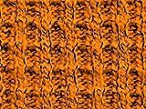Waffel-Tweed-Baumwoll-Pullover-Strickstoff, Orange,