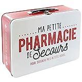 LA BOITE A BT6630 Pharmacie Boîte Métal Rouge/Blanc 26,50 x 9,40 x 22,30 cm