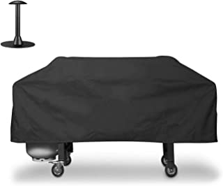 """Unicook Heavy Duty Waterproof Grill Cover for Blackstone 36"""" Griddle Cooking Station, Outdoor Flat Top Gas Grill Griddle Cover with Seam Taped, Including Support Pole to to Prevent Pooling Water"""