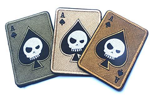 KOSSJAA Stickerei AufnäherPatches Klett Abzeichen Klettbänder Militär Aufkleber für Rucksäcke 4 pcs Set (3PCS D)
