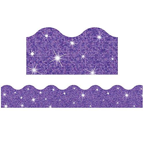 TREND ENTERPRISES, INC. Terrific Trimmers Sparkle Border, 2 1/4 x 39 Panels, Purple, 10 per Set