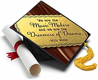 Tassel Toppers Willy Wonka & The Chocolate Factory Grad Cap Decorated Grad Caps