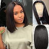 Amella Hair Short Straight Bob Wigs Brazilian Virgin Human Hair Lace Closure...