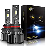 CougarMotor LED Bulbs All-in-One Conversion Kit - 9005-6000K Cool White, Halogen Replacement, Quick Installation Low Fog Light