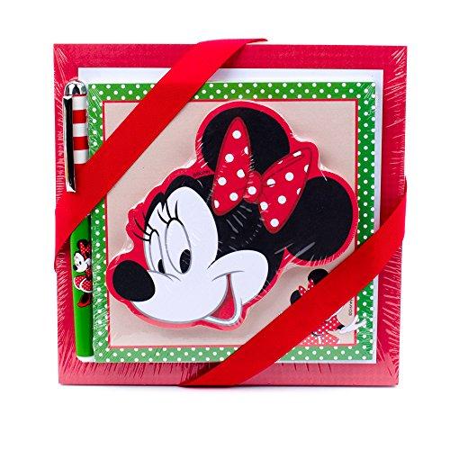 Hallmark Minnie Mouse Notepad Set (3 Notepads, 1 Pen)