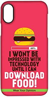 Macmerise IPCIPXPWY0522 Download food - Pro Case for iPhone X - Multicolor (Pack of1)