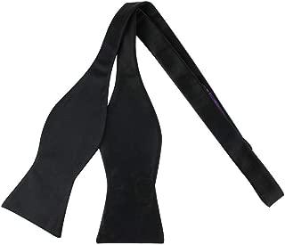 Self Tie Black Satin Bow tie