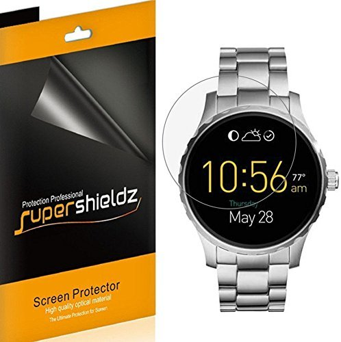 (6 Pack) Supershieldz Designed for Fossil Q Founder Screen Protector, (Full Screen Coverage) 0.23mm High Definition Clear Shield
