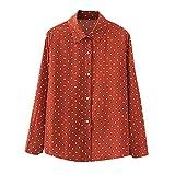 Ncenglings Camisa de cuadros para mujer, estilo retro, casual, estampado a cuadros, hawaiano, suave, de algodón con patrón de botones, teñido anudado, elegante sudadera cárdigan