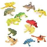 Piccole Figure Rana Decorazione Bambini Giocattoli Plastica 12pcs Colorati