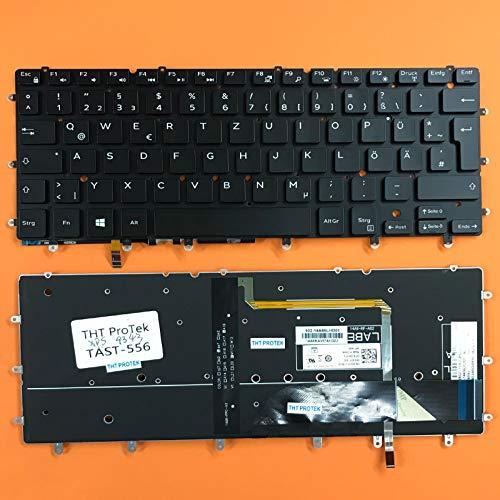 kompatibel für Dell Inspiron 7359 Tastatur - Farbe: Schwarz - mit Beleuchtung - ohne Rahmen Deutsches Tastaturlayout